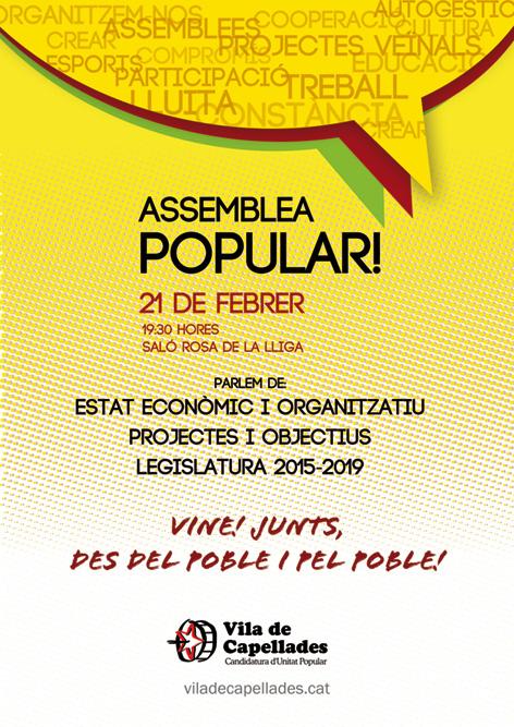 Assemblea Popular: Vine! Juntes, des del poble i pel poble.