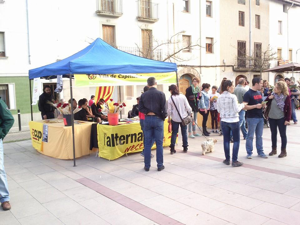 Gran jornada a la parada de St. Jordi. Som Cultura Popular!