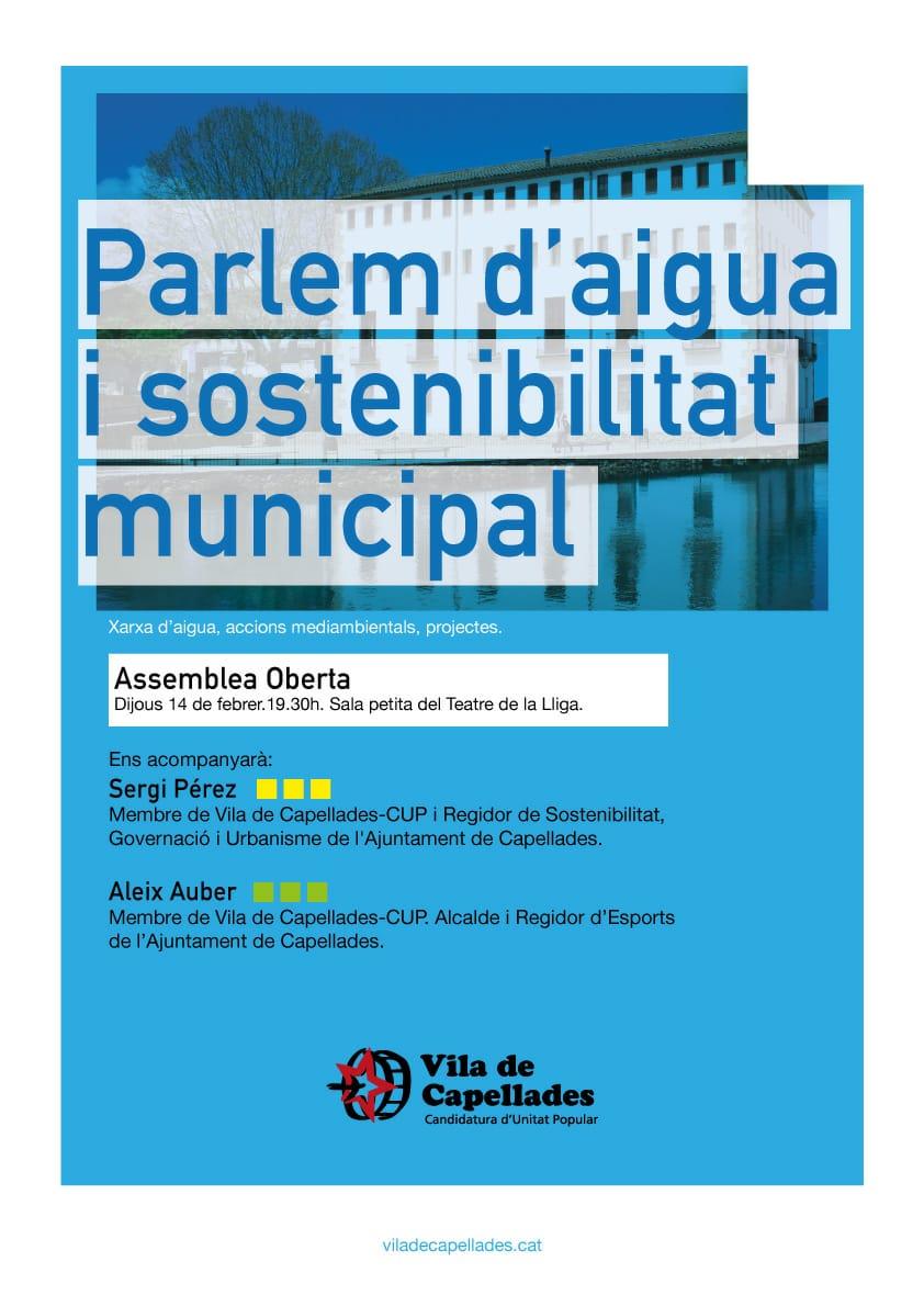 Parlem d'aigua i sostenibilitat municipal