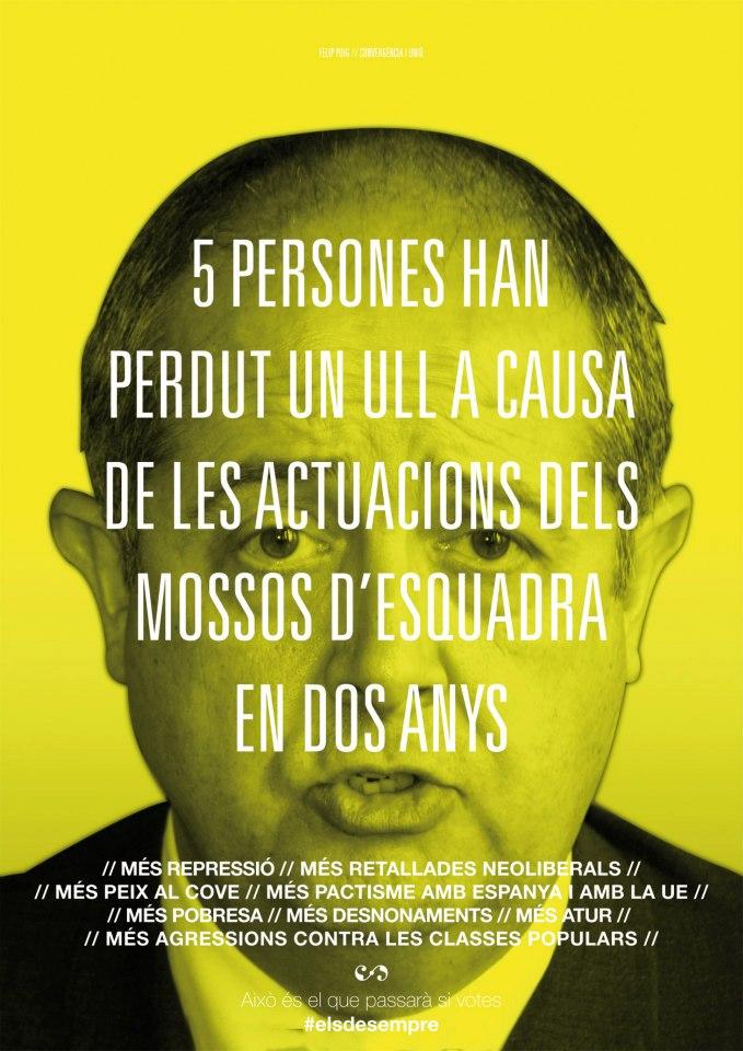 L'Esquerra Independentista de Capellades en motiu de la visita de Felip Puig al Mercat Figueter 2013