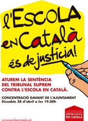 VdC-CUP anima a la ciutadania a assistir a la concentració d'aquest dissabte per l'escola en català