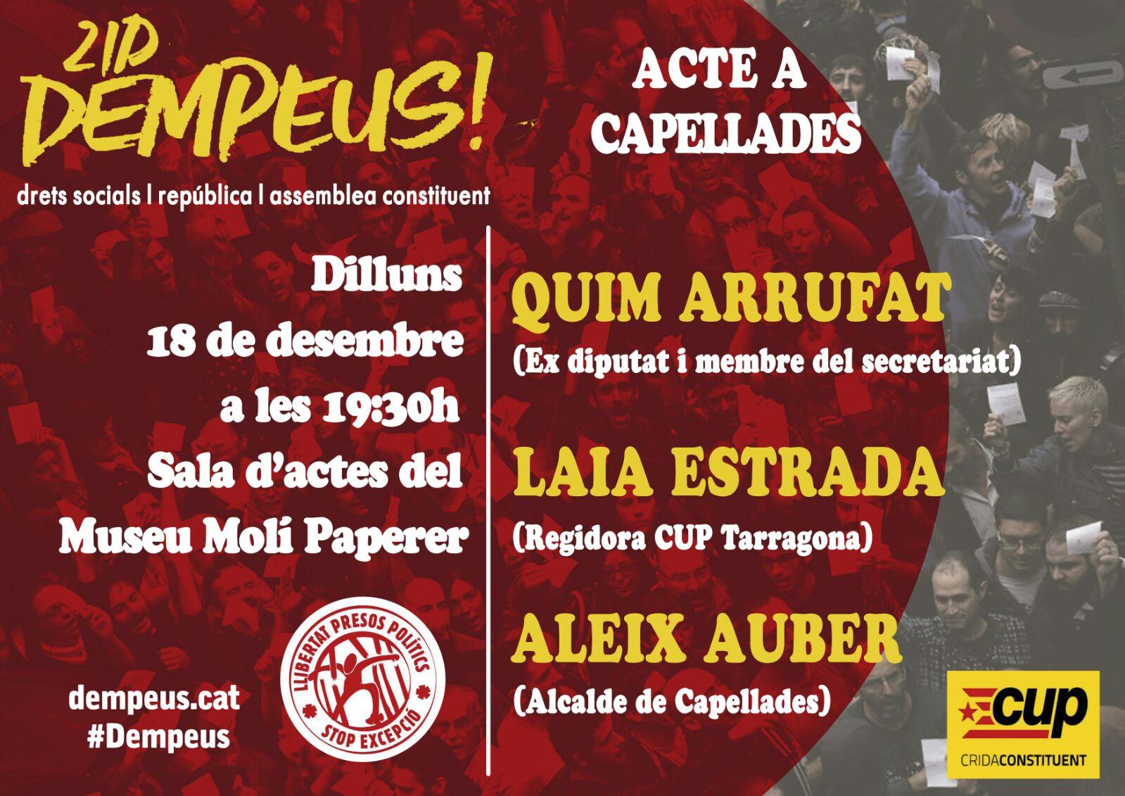 Acte de campanya a Capellades! DEMPEUS