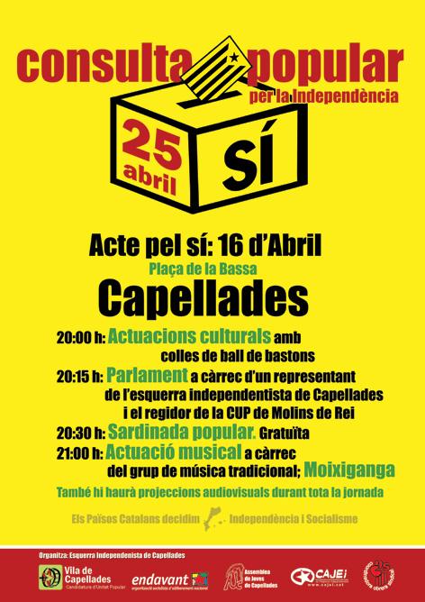 Actes de l'Esquerra Independentista pel Referèndum del proper 25 d'abril
