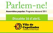Dissabte Vila de Capellades-CUP celebrarà la segona Assemblea Popular