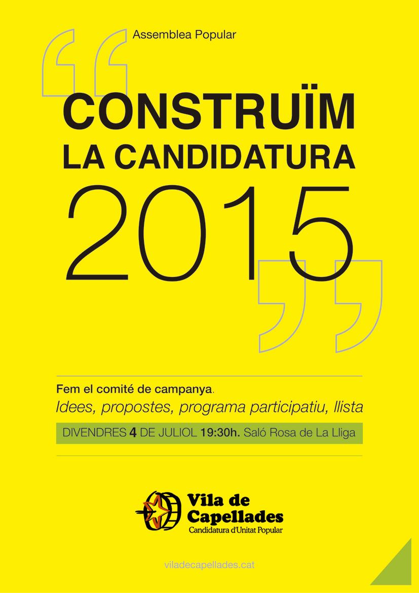Construïm la candidatura 2015!
