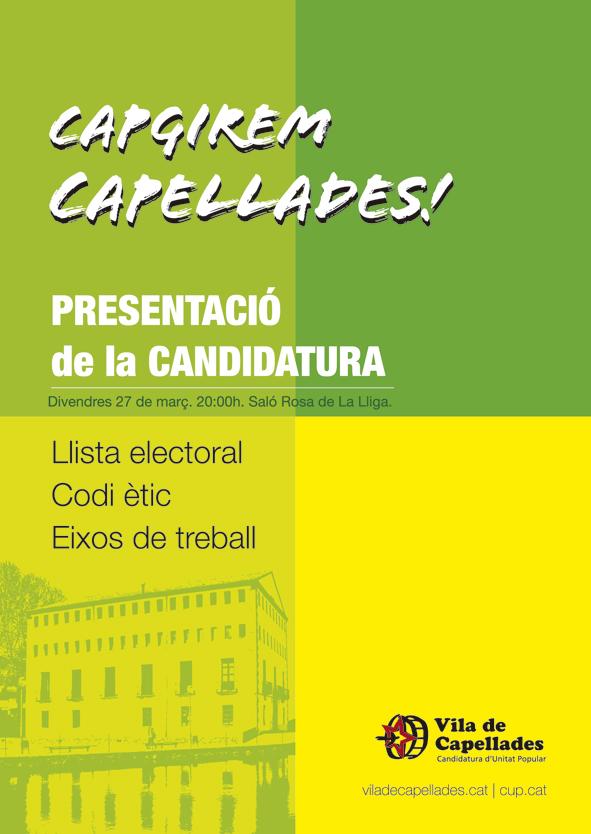 Presentació de la candidatura 2015.