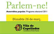 Vila de Capellades-Candidatura d'Unitat Popular celebra la primera Assemblea Popular