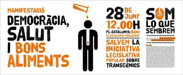 Vila de Capellades - CUP dona suport a la manifestació per un nou model alimentari, sanitari i pagès.