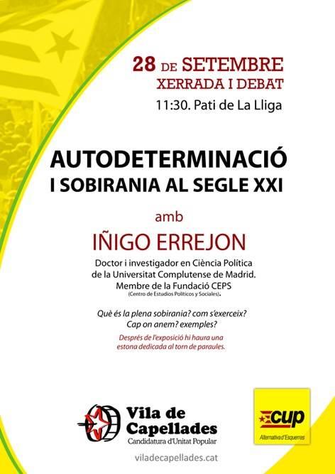 Xerrada i debat: Autodeterminació i sobirania al segle XXI