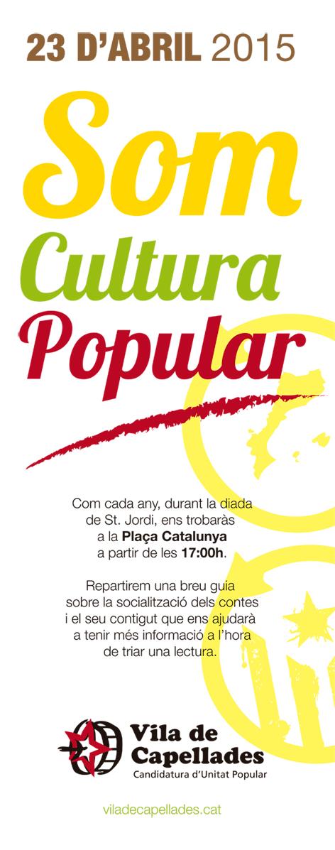 23 d'abril. St. Jordi. SOM CULTURA POPULAR!
