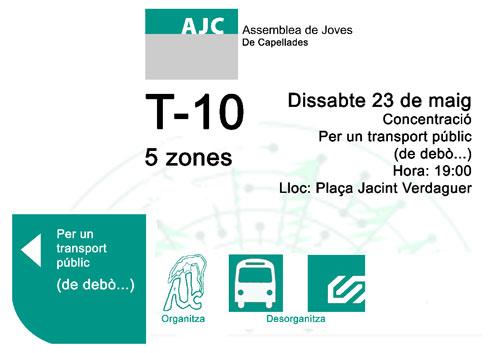 Vila de Capellades - CUP s'adhereix a la concentració del 23 de Maig