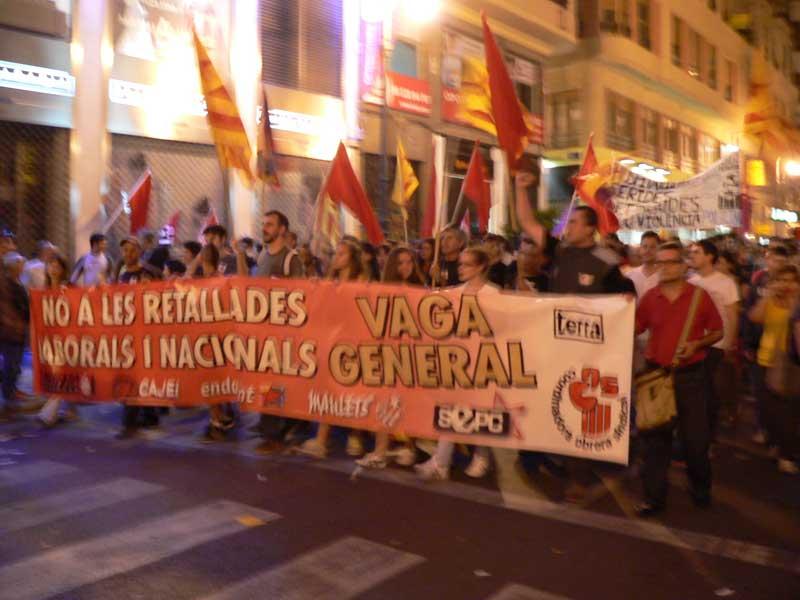 La CUP dóna suport a la vaga general del 14 de novembre