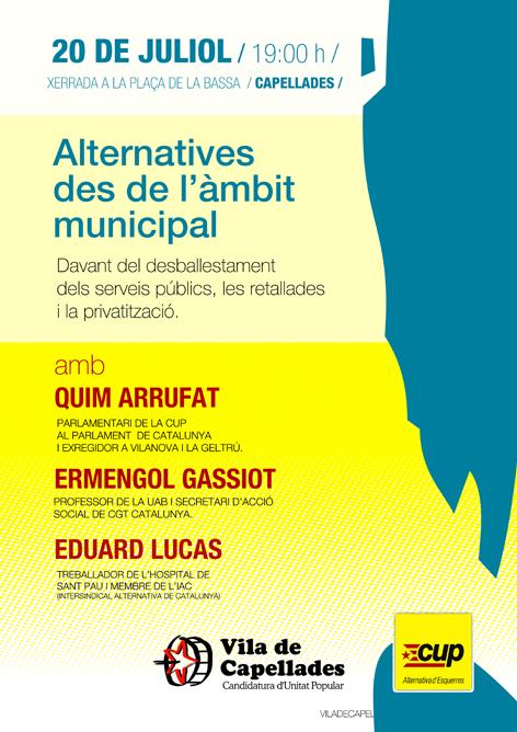 Xerrada: Alternatives des de l'àmbit municipal